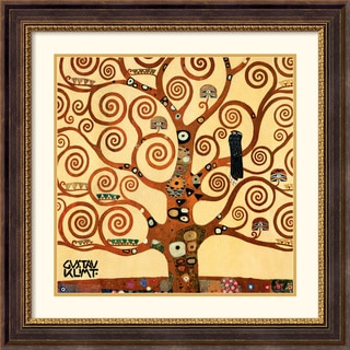 Gustav Klimt 'Tree Of Life (detail 1)' Traditional Framed Art Print