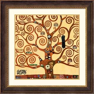 Gustav Klimt 'Tree Of Life (detail 1)' Framed Art Print