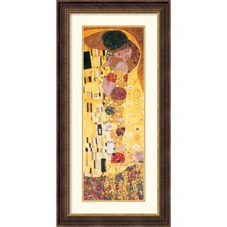 Gustav Klimt 'The Kiss (Der Kuss), detail' Vertical Framed Art Print