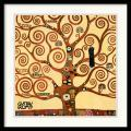 Gustav Klimt 'Tree Of Life (detail 1)' Framed Art Print