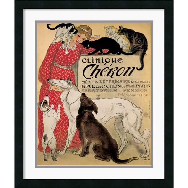 Theophile Alexandre Steinlen 'Clinique Cheron' Framed Art Print