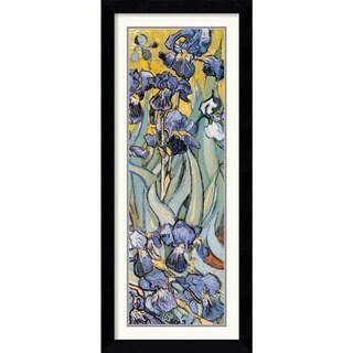 Vincent Van Gogh 'Iris Garden (Detail)' Framed Art Print