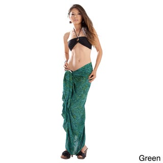 Abstract Leaf Sarong (Indonesia)