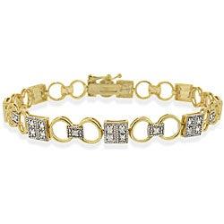 Icz Stonez 24k Goldplated Icz Stonez Sterling Silver CZ Bracelet