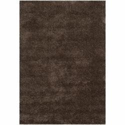 Handwoven Mandara Brown Shag Area Rug (9' x 13')