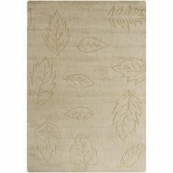 Hand-tufted Mandara  Gold Wool Rug (7' x 10')
