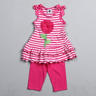 Good Lad Toddler Girl's Striped Tunic and Leggings Set
