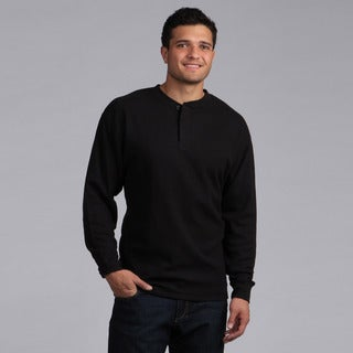 Farmall IH Men's Big and Tall Black Thermal Henley