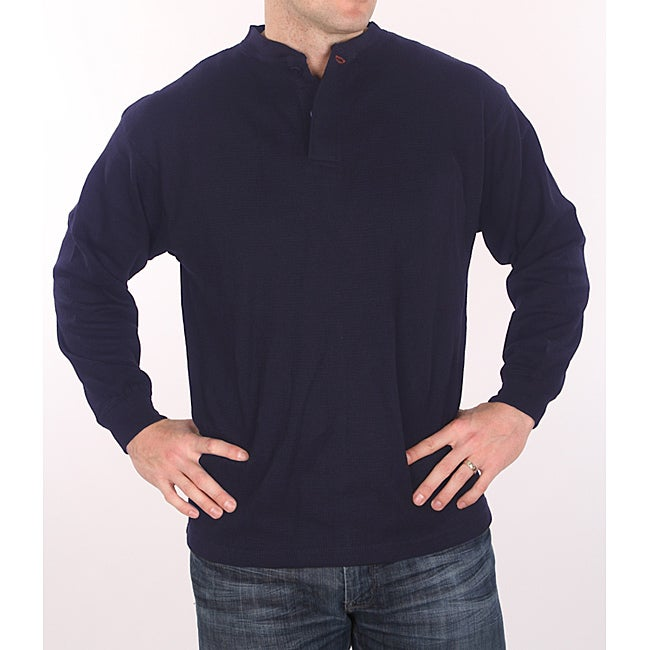 Farmall IH Men's Big and Tall Navy Henley Top