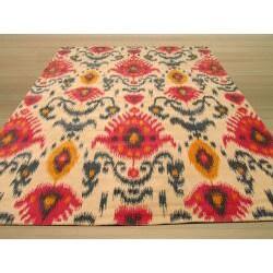 Hand-tufted Ivory Ikat Wool Rug (7'9 x 9'9)