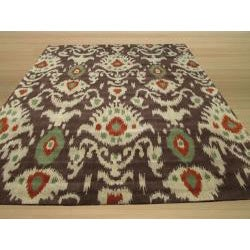 Hand-tufted Ikat Wool Rug (7'9 x 9'9)