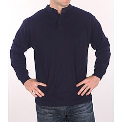 Farmall IH Men's Navy Henley Top