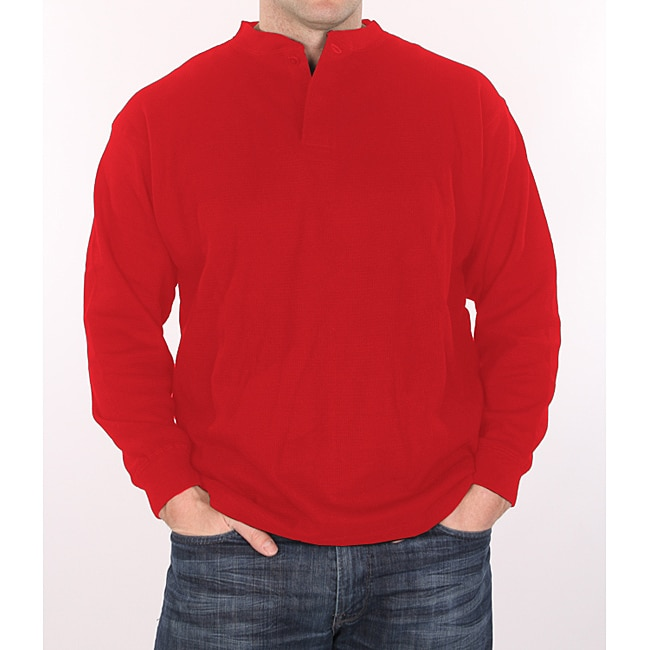 Farmall IH Men's Big and Tall Red Thermal Henley