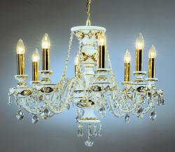 Milk Glass 8-light Chandelier