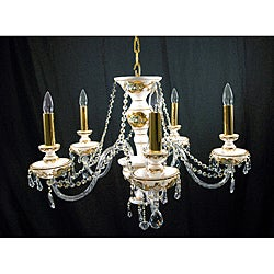 Milk Glass 5-light Chandelier