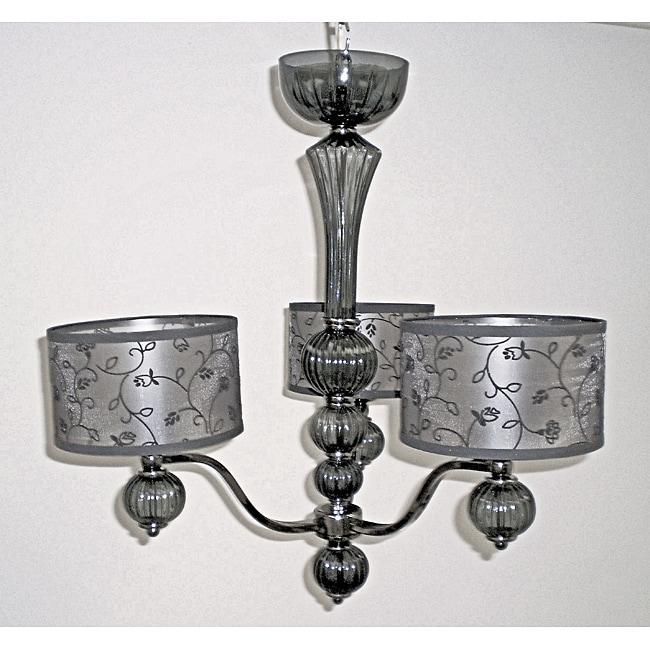 Lila 3-light Smoke Glass Chandelier