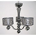 Lila 3-light Smoke Glass Chandelier