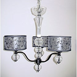 Kira 3-light Clear Glass Chandelier