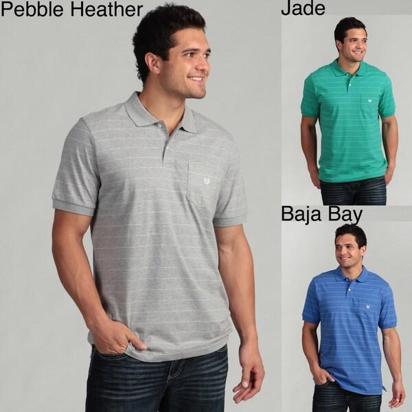 Chaps Men's Striped Knit Polo Shirt