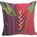 Corona Decor French Woven Bird of Paradise Decorative Pillow