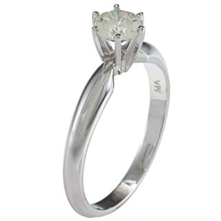 14k Gold 1/2ct TDW Certified Diamond Solitaire Engagement Ring (I-J, SI2-SI3) (Size 6.5)