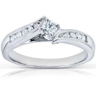 Annello 14k White Gold 1/4ct TDW Diamond Engagement Ring (G-H, I1-I2)