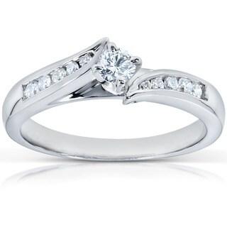 Annello 14k White Gold 1/4ct TDW Diamond Engagement Ring (G-H, I1-I2)
