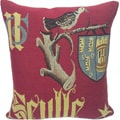 Corona Decor French Woven Traditional Decorative Pillow