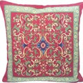 Corona Decor French Woven Transitional Feather and Down Filled Decorative Pillow