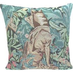 Corona Decor French Woven Fox Square Decorative Pillow