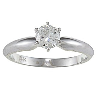 14k Gold 1/2ct TDW Certified Diamond Solitaire Engagement Ring (F-G, I1-I2)