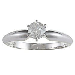 14k Gold 1/2ct TDW Certified Diamond Solitaire Engagement Ring (E-F, I1-I2)
