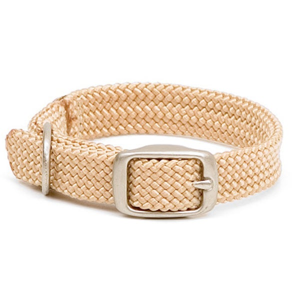 Sand Double-Braided 14-inch Junior Pet Collar