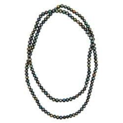 Pearlz Ocean Multi-colored Freshwater Pearl 36-inch Necklace (6-7 mm)
