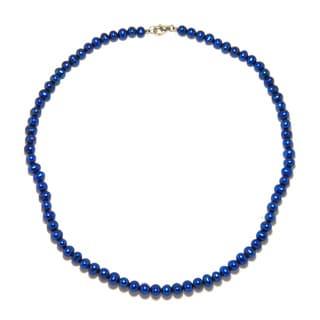 Pearlz Ocean Intense Blue Freshwater Pearl Necklace