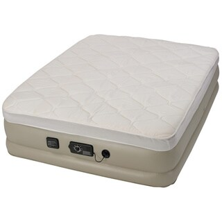 Serta Raised Queen-size Pillow Top Airbed with NeverFlat AC Pump