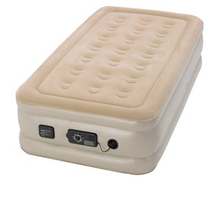 Serta Raised Twin-size Airbed with NeverFlat AC Pump