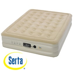 Serta Raised Queen-size Airbed with Insta III AC Pump