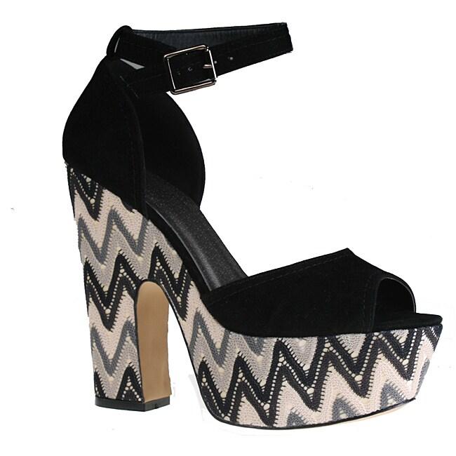 Refresh by Beston Women's 'Mitzy-01' Chunky Platform Sandals