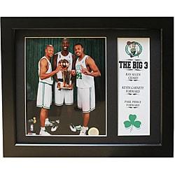 Boston Celtics 'Big Three' Deluxe Stat Frame