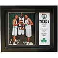 Boston Celtics 'Big Three' Deluxe Stat Frame