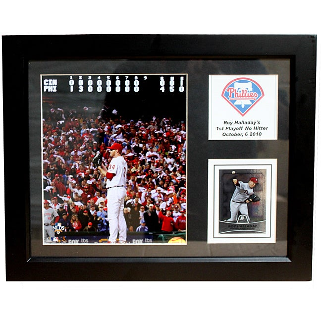 Philadelphia Phillies Roy Halladay 'First Playoff No-Hitter' Deluxe Stat Frame