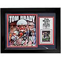 New England Patriots Tom Brady Deluxe Stat Frame