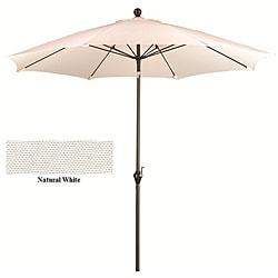 Fiberglass Natural White Poly Crank and Tilt 9-foot Umbrella