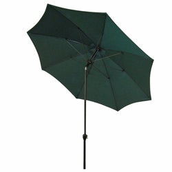 Fiberglass Hunter Green Poly Crank and Tilt 9-foot Umbrella