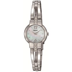 Seiko Women's Stainless-Steel, Crystal-Encrusted Dress Watch