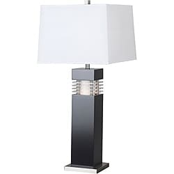 Moore 32-inch Black Finish with Acrylic Accents Table Lamp