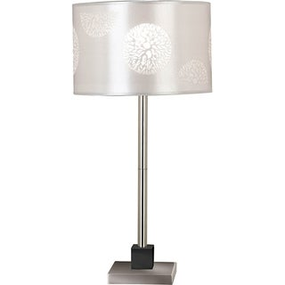 Hyde 26-inch Brushed Steel Table Lamp