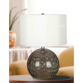 Shelby 20-inch Smoked Glass Finish Table Lamp