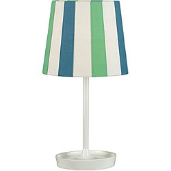 Zion 18-inch White Gloss Accent Lamp